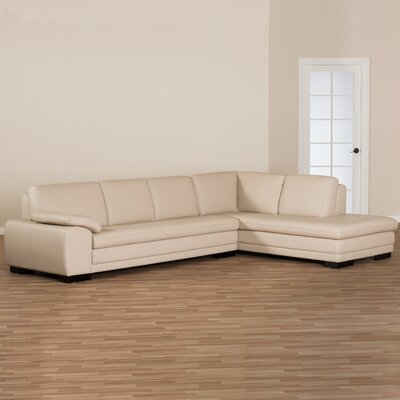 Baxton Studio Sectional Upholstery: Beige