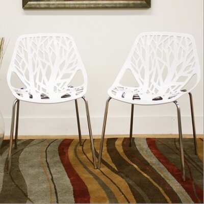 Wholesale Interiors Baxton Studio Birch Sapling Dining Chair in White (Set of 2) Best Price