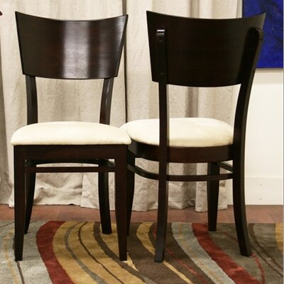 Wholesale Interiors Baxton Studio Carla Dining Chair in Dark Brown (Set of 2) Best Price