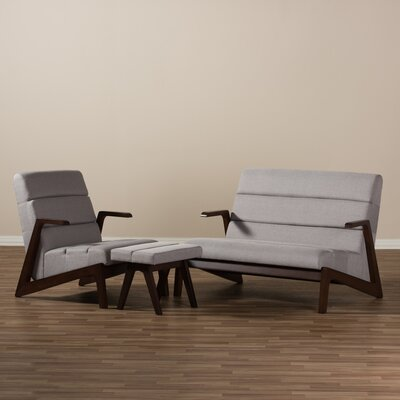 Lazzaro 3 Piece Living Room Set
