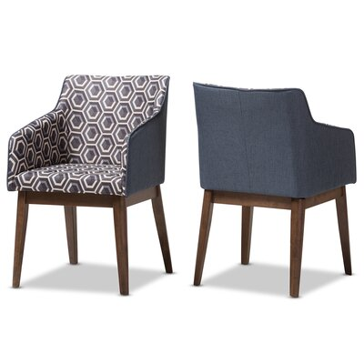 Eric Mid-Century Modern Patterned Fabric Lounge Chair