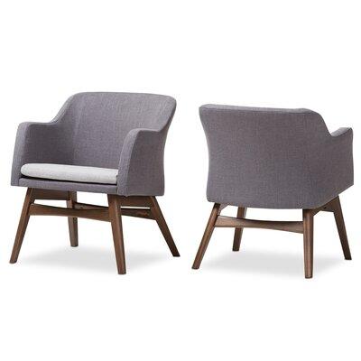 Victoria Mid-Century Modern Fabric Armchair