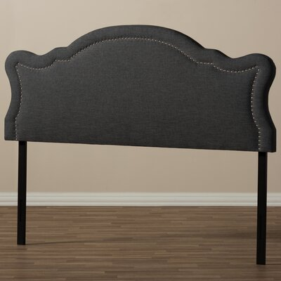 Rosana King Upholstered Panel Headboard Upholstery: Dark Gray