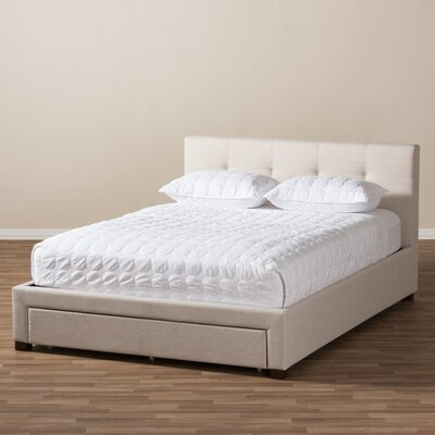 Mizuno Upholstered Storage Platform Bed Size: Queen, Color: Light Beige