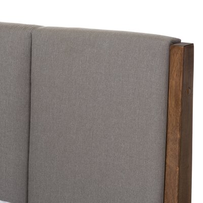 Baxton Studio Rachele Mid-Century Fabric and Wood Platform Bed Color: Light Gray, Size: Queen