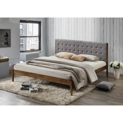 Clemente Wood Platform Bed Size: King, Color: Light Gray