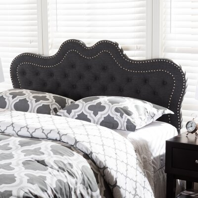 Michaela Panel Headboard Size: King, Upholstery: Dark Gray