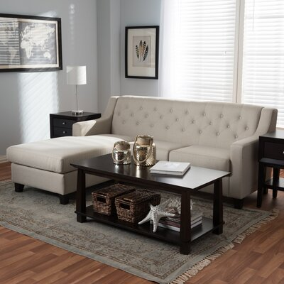 West Village Sectional Upholstery: Light Beige