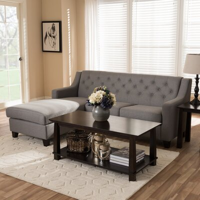 Baxton Studio Sectional Upholstery: Gray