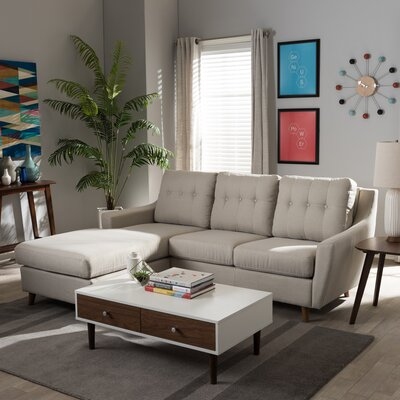Brydon Sectional Upholstery: Light Beige