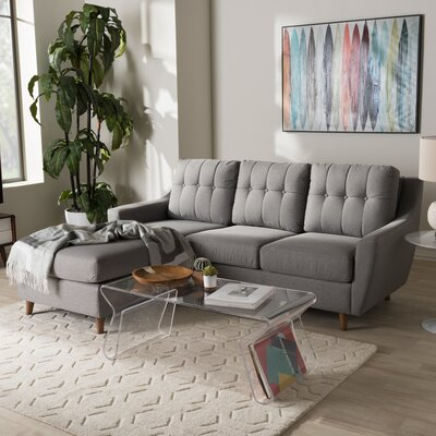 Brydon Sectional Upholstery: Gray