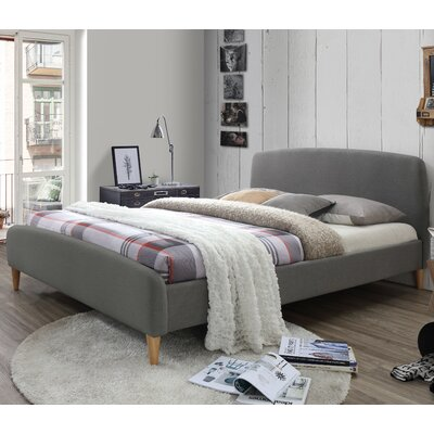 Georgio Upholstered Platform Bed Upholstery: Light Gray, Size: Queen