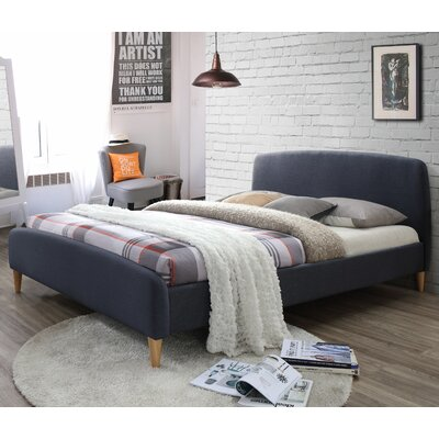 Georgio Upholstered Platform Bed Upholstery: Charcoal Gray, Size: King