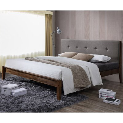 Baxton Studio Rafaele Upholstered Platform Bed Size: King