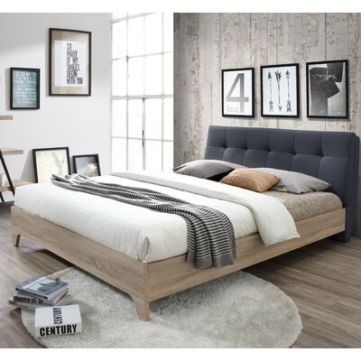 Rebecca Upholstered Full Platform Bed Size: Queen, Color: Charcoal Gray
