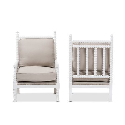 Baxton Studio Geremia Armchair Finish: White
