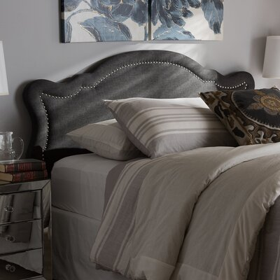 Rosana Modern and Contemporary Upholstered Panel Headboard Size: Twin, Upholstery: Dark Gray