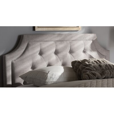 Baxton Studio Rico Modern and Contemporary Upholstered Panel Headboard Color: Beige, Size: King