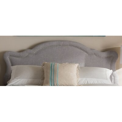 Rosana Modern and Contemporary Upholstered Panel Headboard Size: Twin, Upholstery: Gray
