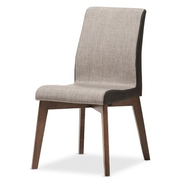 Baxton Studio Mona Mid-Century Modern Fabric Side Chair