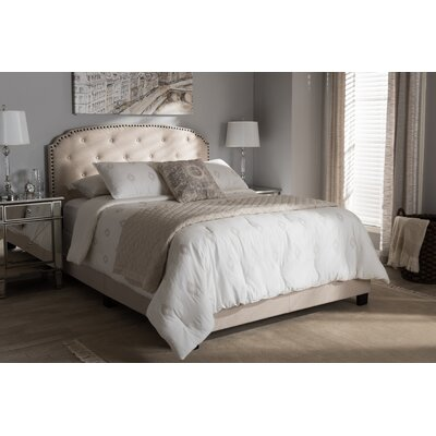 Mariana Fabric Upholstered Panel Bed Size: Full, Color: Light Beige