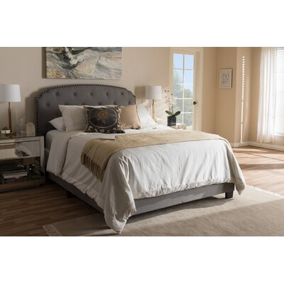 Mariana Fabric Upholstered Panel Bed Size: Full, Color: Light Gray