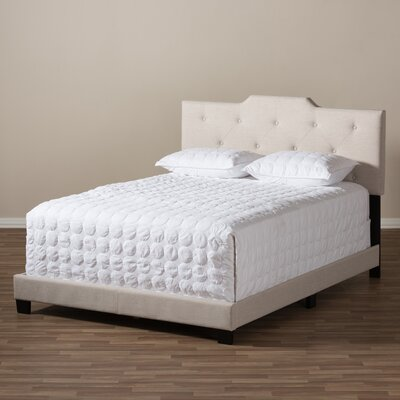 Filippo Upholstered Panel Bed Size: Queen, Color: Light Beige