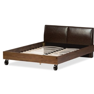 Baxton Studio Francesca Uphostered Platform Bed Size: King
