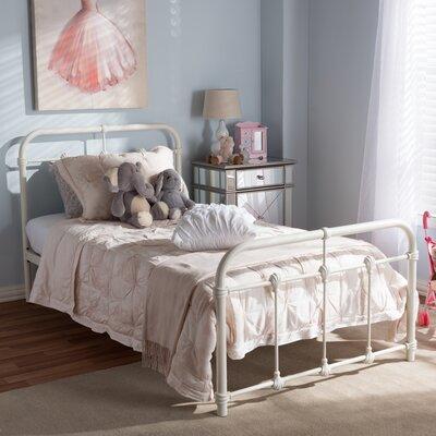 Baxton Studio Marcella Twin Platform Bed Finish: Antique White