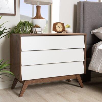 Baxton Studio Sergio 3 Drawer Dresser