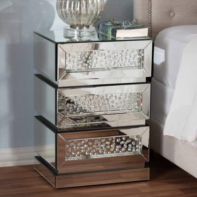 Spicer 3 Drawer Nightstand