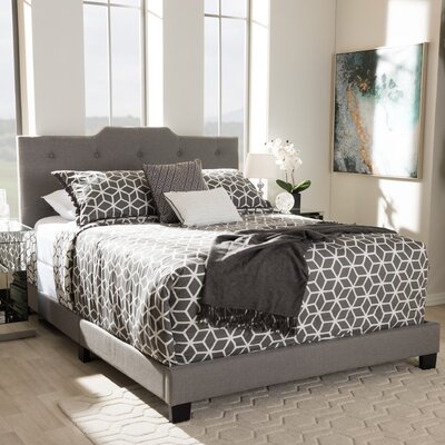Baxton Studio Filippo Upholstered Panel Bed Size: Queen, Color: Light Grey