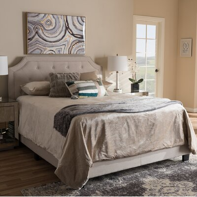 Ernesto Upholstered Panel Bed Size: Full, Upholstery: Beige