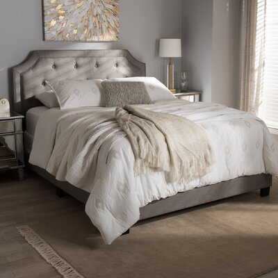 Buchanan Upholstered Panel Bed Size: King, Color: Gray