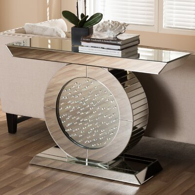 Baxton Studio Philippa Hollywood Regency Glamour Style Mirrored Console Table