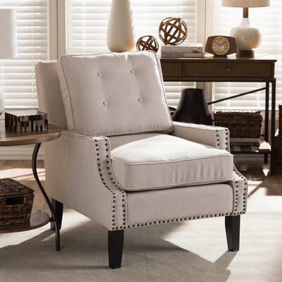 Baxton Studio Norwich Armchair in Beige