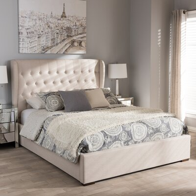 Sedgwick Contemporary Wood Storage Platform Bed Color: Light Beige