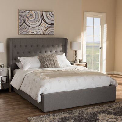 Sedgwick Contemporary Wood Storage Platform Bed Color: Light Gray