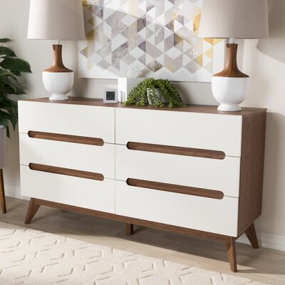 Brydon 6 Drawer Double Dresser