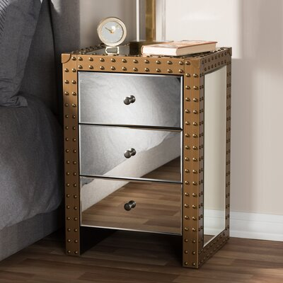 Marla 3 Drawer Nightstand