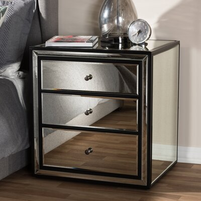 Boho 3 Drawer Nightstand