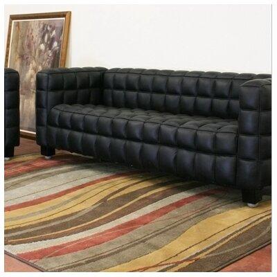 B56-0717-Sofa-Black WHI1630 Wholesale Interiors Baxton Studio Arriga Sofa