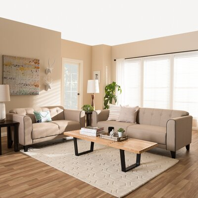 Summerhill Sofa and Loveseat Set Upholstery: Beige