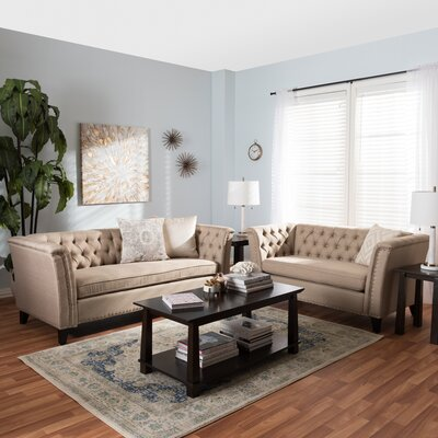 Stony Point 2 Piece Living Room Set Upholstery: Beige