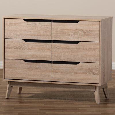 Glastenbury Modern 6 Drawer Dresser