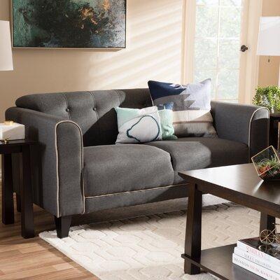 Summerhill Modern 2 Seater Standard Loveseat Upholstery: Gray