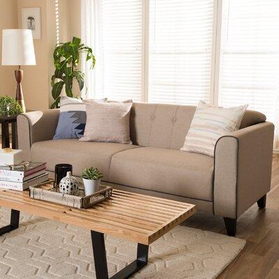 Summerhill Modern Standard Sofa Upholstery: Beige