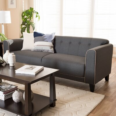 Summerhill Modern Standard Sofa Upholstery: Gray