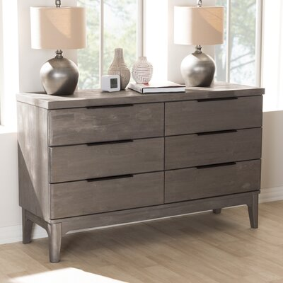 Tion 6 Drawer Double Dresser