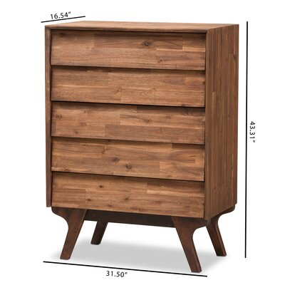 Tion Wood 5 Drawer Chest